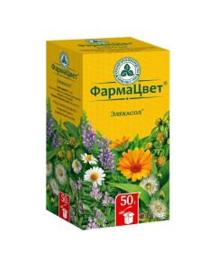 Buy cheap Calendula medicine flowers, chamomile flowers, licorice roots, herbs herbs, sage leaves, eucalyptus leaves | Elekasol collection pack, 50 g online www.buy-pharm.com
