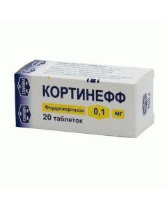 Buy cheap Fludrokortyzon   Cortineff tablets 0.1 mg, 20 pcs. online www.buy-pharm.com