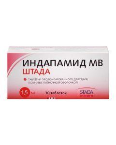 Buy cheap indapamide   Indapamide MV Stada tablets coated.pl.ob. Prolong 1.5 mg 30 pcs. online www.buy-pharm.com