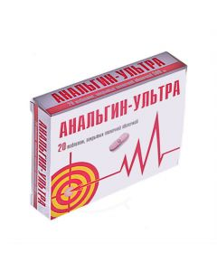 Buy cheap Metamizole Sodium | Analgin-Ultra tablets is covered.pl.ob. 500 mg 20 pcs. online www.buy-pharm.com