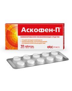 Buy cheap Atsetylsalytsylovaya acid, caffeine, paracetamol   Askofen-P tablets, 10 pcs. online www.buy-pharm.com