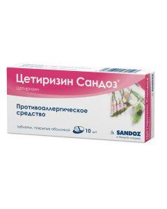 Buy cheap Cetirizine | Cetirizine Sandoz tablets coated.ob. 10 mg 10 pcs. online www.buy-pharm.com