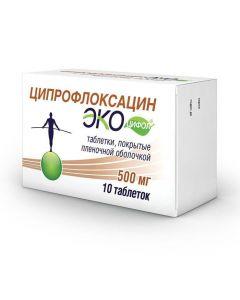 Buy cheap Ciprofloxacin | Ciprofloxacin Ecocifol tablets coated.pl.ob. 500 mg 10 pcs. online www.buy-pharm.com