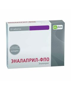 Buy cheap Enalapril | Enalapril-FPO tablets 20 mg 20 pcs. online www.buy-pharm.com