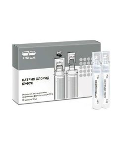 Buy cheap Sodium chloride | Sodium chloride buffus Renewal injection rn 0.9% 10 ml ampoules 10 pcs. online www.buy-pharm.com