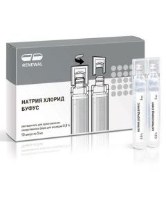 Buy cheap Sodium chloride | Sodium chloride bufus Renewal injection solution 0.9% 5 ml ampoules 10 pcs. online www.buy-pharm.com