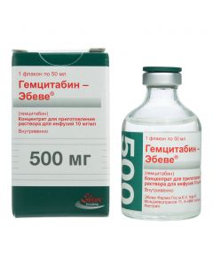 Buy cheap gemcitabine | Gemcitabine-Ebeve concentrate for solution for infusions 10 mg / ml 50 ml bottle 1 pc. online www.buy-pharm.com