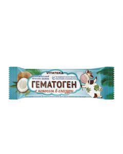 Buy cheap Gematogen | Vitateka Hematogen with coconut chocolate coated 40 g online www.buy-pharm.com