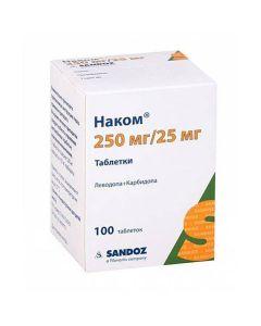 Buy cheap Levodopa, Karbydopa   Nakom tablets, 100 pcs. online www.buy-pharm.com