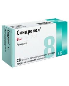Buy cheap Ropynerol   Sindranol tablets is covered.pl.ob. prolong. 8 mg 28 pcs. online www.buy-pharm.com
