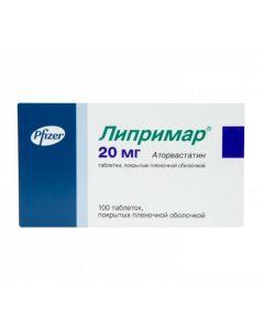 Buy cheap Atorvastatin | Liprimar tablets 20 mg, 100 pcs. online www.buy-pharm.com