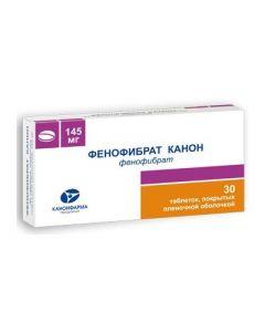 Buy cheap Fenofybrat | Fenofibrate Canon tablets coated. 145 mg 30 pcs. online www.buy-pharm.com