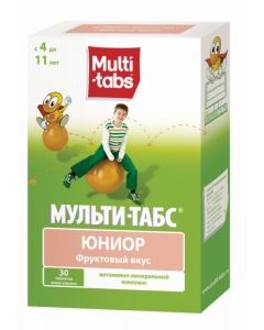 Buy cheap Polyvytamyn | Multi-Tabs Junior chewable fruit tablets 30 pcs. online www.buy-pharm.com