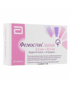 Buy cheap Dydrogesterone, Estradiol | Femoston mini tablets coated.pl.ob. 28 pcs. online www.buy-pharm.com