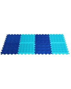 Buy Massage orthopedic mat for feet Ortho Puzzle 'Path of health', mix, 27 х 27 х 1.5 cm, 8 modules | Online Pharmacy | https://buy-pharm.com