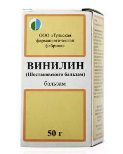 Buy Vinylin (Shostakovsky balm) 50.0 bottle balm, Tula Ff | Online Pharmacy | https://buy-pharm.com