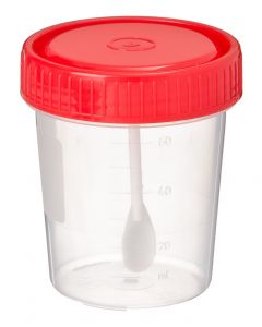 Buy Perint JSC 10 pieces. Universal sterile test container with removable spoon, 60 ml | Online Pharmacy | https://buy-pharm.com