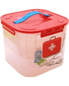 Buy sHome first aid kit Idea storage container 'Deco. First aid kit', with insert, 7 l | Online Pharmacy | https://buy-pharm.com