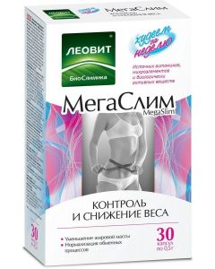 Buy BioSlimica MegaSlim Vitamin and mineral complex dietary supplements for food 30 capsules, Leovit, 15 g | Online Pharmacy | https://buy-pharm.com