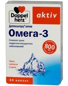 Buy Doppelherz 'Active Omega-3', 30 capsules | Online Pharmacy | https://buy-pharm.com