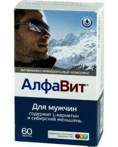 Buy Vitamin-mineral complex Alphabet 'For Men', 60 tablets | Online Pharmacy | https://buy-pharm.com