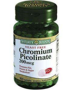 Buy Nature Bounty 'Chroma picolinate yeast-free', 100 tablets | Online Pharmacy | https://buy-pharm.com