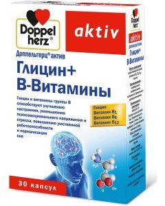 Buy Glycine Doppelherz 'Aktiv', with B-Vitamins, 30 capsules | Online Pharmacy | https://buy-pharm.com