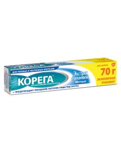 Buy Cream for fixing dentures Korega 'Extra strong mint', 70 g | Online Pharmacy | https://buy-pharm.com