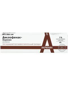 Buy Diclofenac-Akrikhin 1% 40.0 Gel for external use, Tube | Online Pharmacy | https://buy-pharm.com
