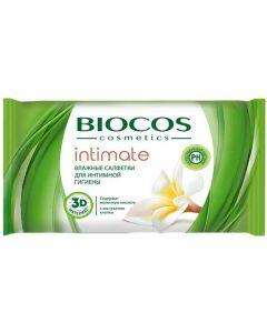 Buy BioCos intimate wet wipes for intimate hygiene, 15 pcs | Online Pharmacy | https://buy-pharm.com