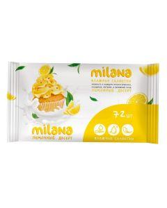 Buy Grass Milana wet wipes Lemon dessert, antibacterial, 72 pcs | Online Pharmacy | https://buy-pharm.com