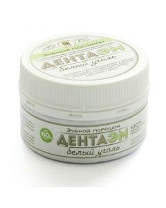 Buy Dental powder DentaEM white coal, powder 60 g, from NPO Argo-EM1 (Ulan -Ude) | Online Pharmacy | https://buy-pharm.com