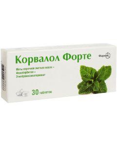 Buy Corvalol Forte Tablets, # 30 | Online Pharmacy | https://buy-pharm.com