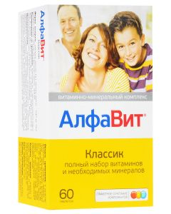 Buy Vitamin-mineral complex AlfaVit 'Classic', 60 tablets   Online Pharmacy   https://buy-pharm.com