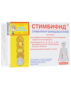 Buy Stimulant of bifidobacteria 'Stimbifid', 550 mg, 80 tablets | Online Pharmacy | https://buy-pharm.com