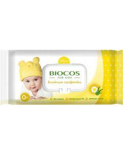 Buy BioCos Wet Wipes, for children, with valve , 100 pcs | Online Pharmacy | https://buy-pharm.com