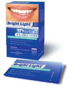 Buy Whitening strips for teeth Bright Light '3D Bright Night Effects' | Online Pharmacy | https://buy-pharm.com