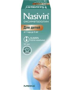 Buy Nazivin nasal drops 0.025% fl 10ml No. 1 (fl with pipette cap) No. 1 | Online Pharmacy | https://buy-pharm.com