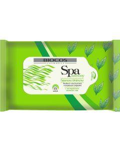 Buy BioCos Wet wipes 'SPA Harmony. Green tea', 15 pcs | Online Pharmacy | https://buy-pharm.com