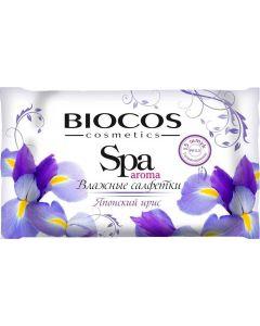 Buy BioCos Wet wipes 'SPA Aroma. Japanese iris', 15 pcs | Online Pharmacy | https://buy-pharm.com