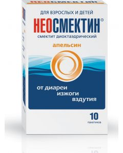 Buy Neosmectin Powder for oral suspension, orange, 3 g sachet, # 10 | Online Pharmacy | https://buy-pharm.com