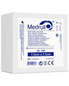 Buy Medrull Medical gauze napkins 'N100', 8-layer, non-sterile, 7.5х7.5 cm | Online Pharmacy | https://buy-pharm.com