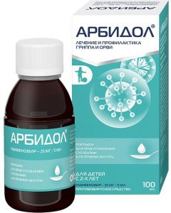 Buy Arbidol pore. d / inv. suspension for oral administration 25mg / 5ml fl. 37g # 1 (cherry-banana) | Online Pharmacy | https://buy-pharm.com