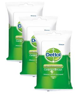 Buy acterial wipes # Dettol anti-moisture wipes , 10 pcs х 3 pcs | Online Pharmacy | https://buy-pharm.com