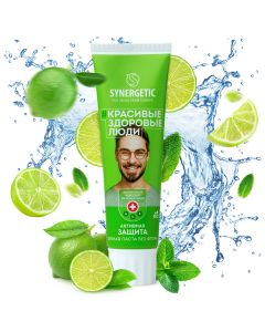 Buy Toothpaste Synergetic Active protection 'LIME + MINT 'natural, fluoride-free, 100g   Online Pharmacy   https://buy-pharm.com