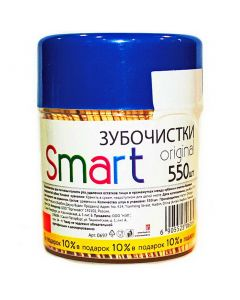 Buy Natural wooden toothpicks 550 pieces in a can Smart | Online Pharmacy | https://buy-pharm.com