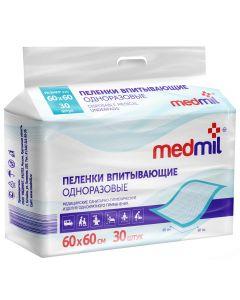 Buy Medical diaper Medmil Disposable absorbent nappies Optima, 60 x 60 cm, 30 pcs | Online Pharmacy | https://buy-pharm.com