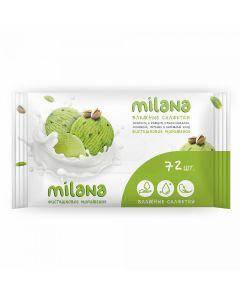 Buy Antibacterial wet wipes Milana Pistachio ice cream (72 pcs.) | Online Pharmacy | https://buy-pharm.com