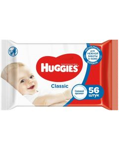 Buy Wet wipes Huggies Classic, 56 pieces | Online Pharmacy | https://buy-pharm.com