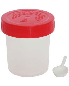 Buy Polymer can for taking biomaterial for analysis 60 ml with a spatula, sterile | Online Pharmacy | https://buy-pharm.com